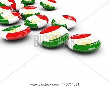 Flag Of Tajikistan, Round Buttons