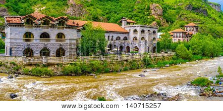 The mountain village of Dzoraget boasts the luxury hotel next to the Deped River Armenia.
