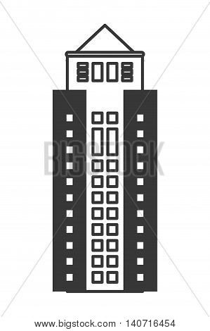 flat design tall building icon vector illustration