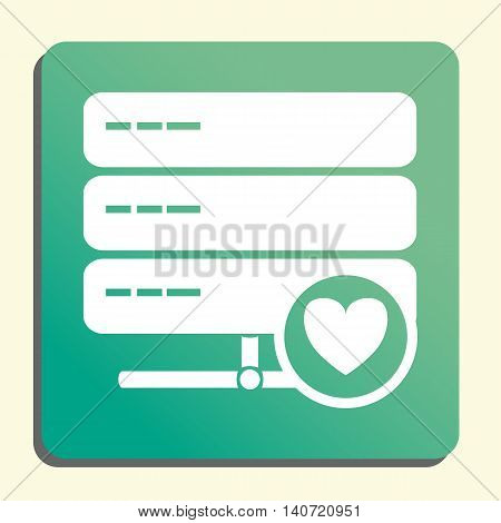 Server Heart Icon In Vector Format. Premium Quality Server Heart Symbol. Web Graphic Server Heart Si