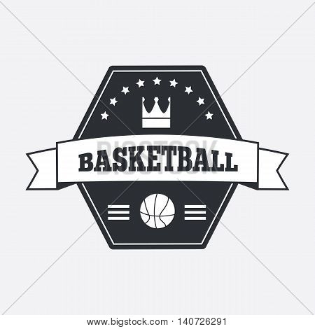 Basketball logo. Basketball emblem template in flat design.
