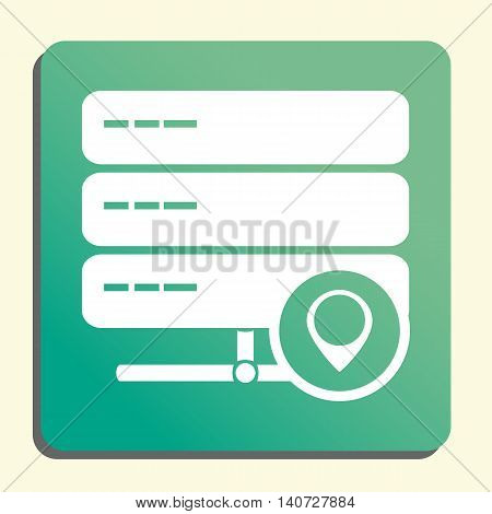 Server Location Icon In Vector Format. Premium Quality Server Location Symbol. Web Graphic Server Lo