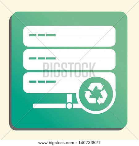 Server Recycle Icon In Vector Format. Premium Quality Server Recycle Symbol. Web Graphic Server Recy