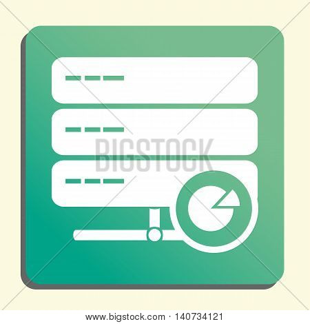 Server Pie Graph Icon In Vector Format. Premium Quality Server Pie Graph Symbol. Web Graphic Server