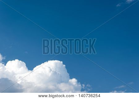 Sky. Beautiful blue sky with volumetric clouds. Clouds. Blue sky