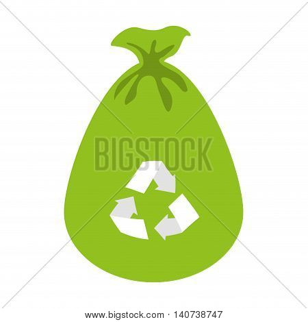 bag recycle garbage icon vector illustration design