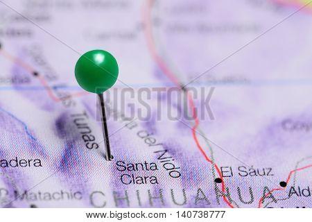 Santa Clara pinned on a map of Mexico