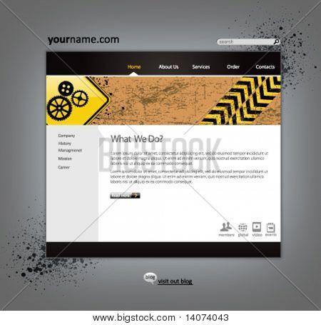 plantilla de diseño de sitio web de negocios - ilustración vectorial