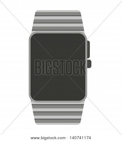 smartwatch wrist wearable icon vector illustration design