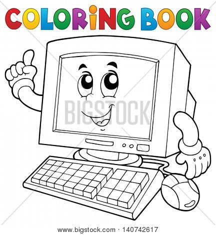 Coloring book computer thematics 1 - eps10 vector illustration.