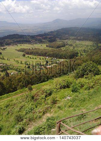 Viewpoint on the Rift Valley escarpment in Naivasha Kenya.
