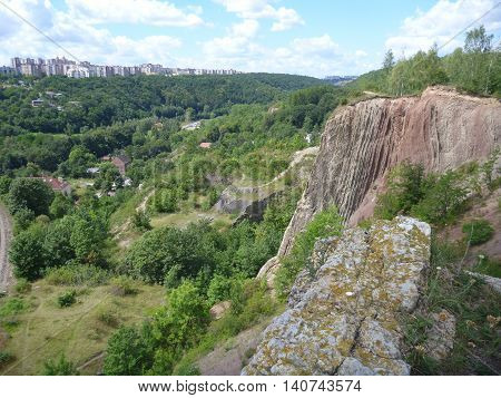 Panoramatic View Of Prokopske Valley In Prague