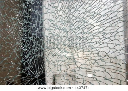 Shattered Shop Window Glass