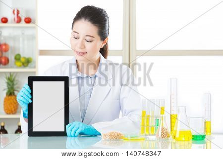 You Will Find Genetic Modification Food Information By Digital Tablet