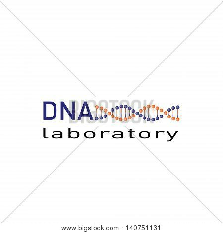 DNA laboratory logo vector design. Bio technology, bio logo, biology design, bio concept logo, DNA logo