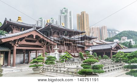 Chin Lin nunnery is a famous Buddhism temple in Hong Kong.