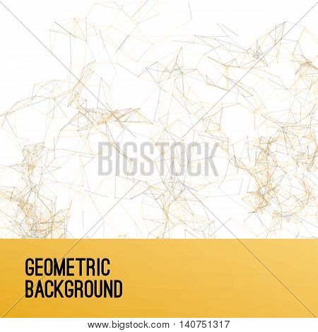 Abstract colorful gold triangulated geometric background, vector illustration