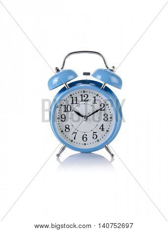 Alarm clock in time concept isolated on white