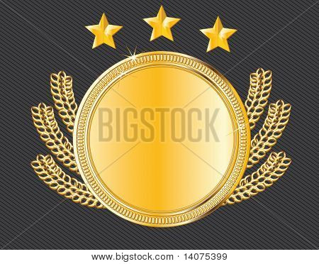 vector award medal - gold