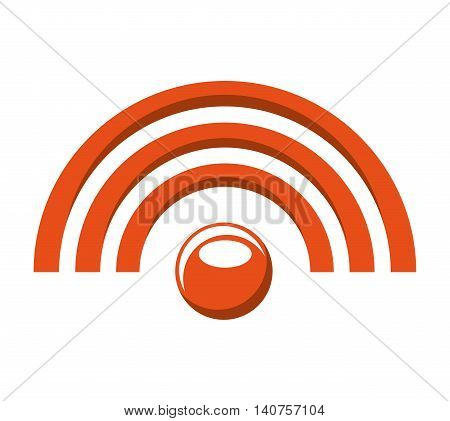 wifi waves signal icon vector isolated graphic