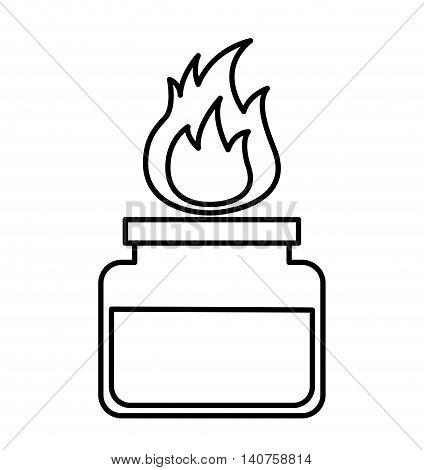 burner laboratory flame icon vector illustration design