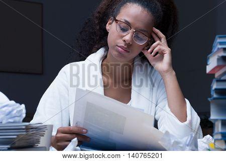 Looking At Paperwork