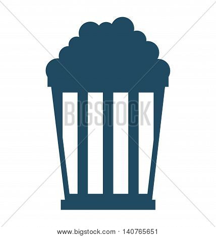 pop corn pot icon vector illustration design