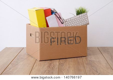 Fired Businessman Box