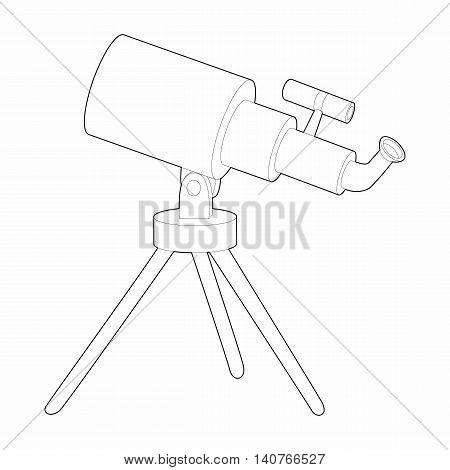 Telescope icon in outline style on a white background