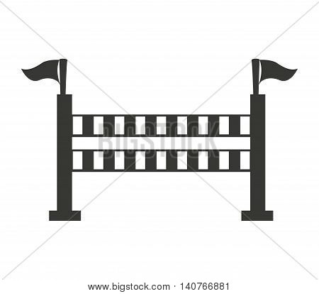 horseriding obstacle sport icon vector illustration design