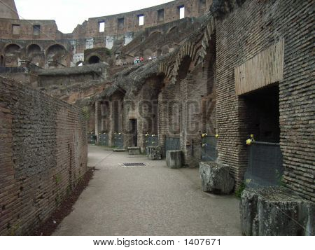 Walkway At The Colloseum In Rome