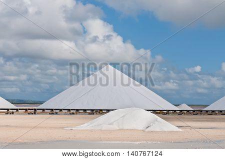 Salt mountains in Bonaire - Netherlands Antilles