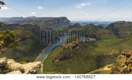 blyde river canyon panoramic view in south Africa