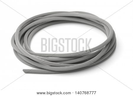 Roll of rubber foam insulation isolated on white