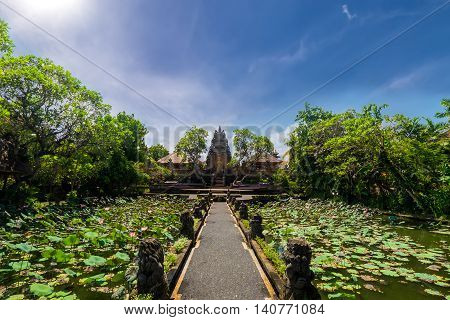 Pura Saraswati Hindu Temple In Ubud, Bali, Indonesia