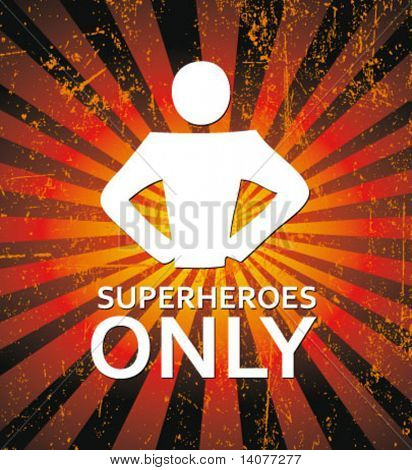 superhero - creative sign