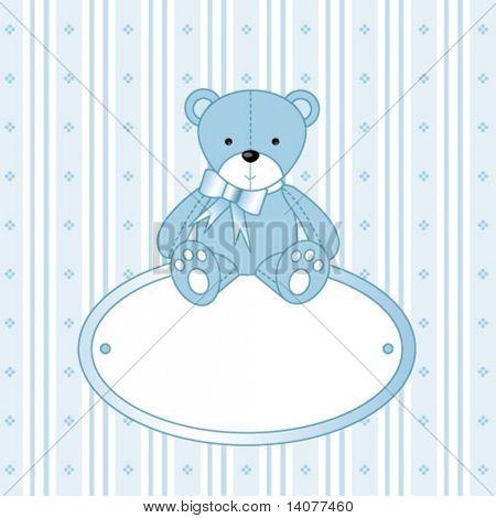 Ursinho para menino - anúncio de chegada do bebê