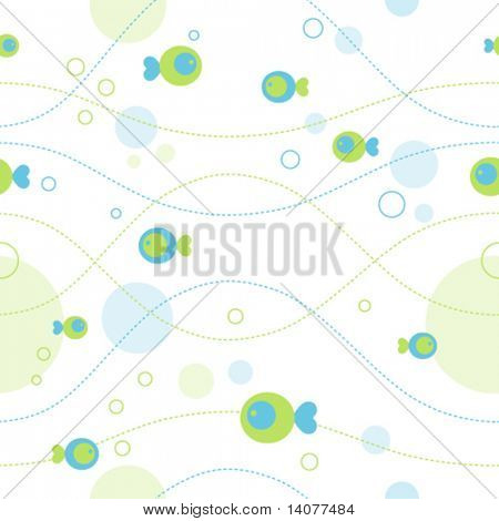 Seamless sea pattern (vector)