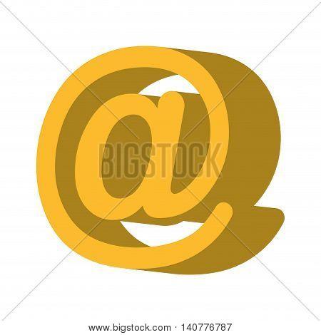 arroba symbol social icon vector illustration design