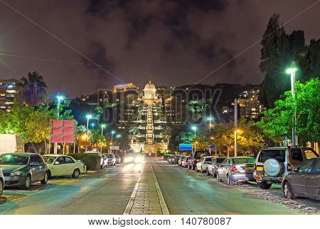 The central street of Haifa and German Colony neighborhood is the best place for the evening walks Israel.