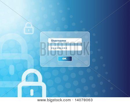 """Passwort Fenster """"Sicherheit"""""""
