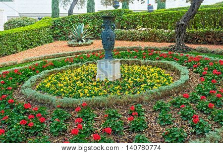 The perfect landscape design makes the Bahai Gardens perfect place to relax and enjoy the beauty Haifa Israel.