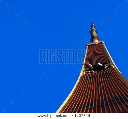 Tv Tower On Blue Sky