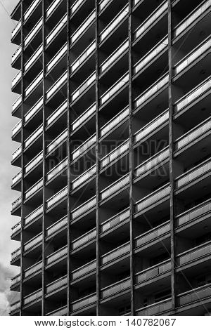 black white building with diagonal and vertical lines as a background or texture