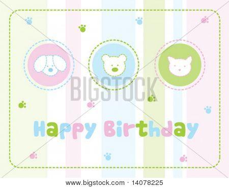 Birthday invitation card for children