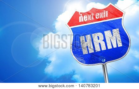 hrm, 3D rendering, blue street sign
