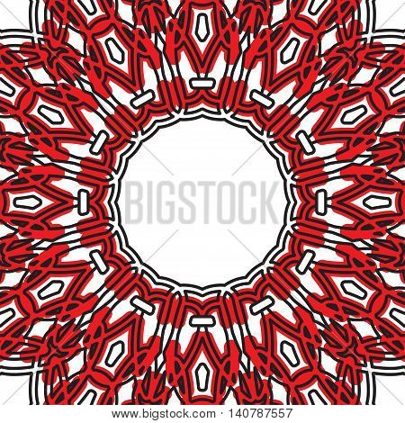 Geometric Pattern With Eastern Ornament.