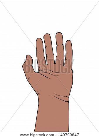 Five Finger Communication Hand High Five Illustration