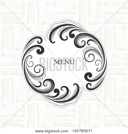Vintage abstract beautiful hand-drawn frame. Element for design. Vector illustration.