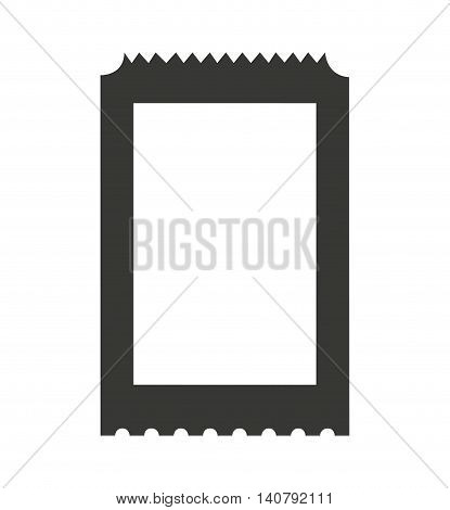 ticket paper entrance vector illustration icon design